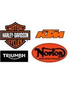 KTM, HARLEY DAVIDSON,BMW,TRIUMPH,NORTON
